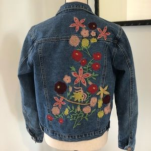 Anthropologie - Embroidered Jean Jacket